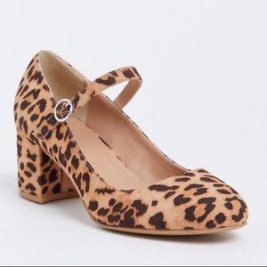 🆕 Torrid Animal Print Ankle Strap Mary Jane Heels